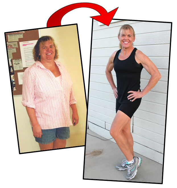 Personal Trainer Thousand Oaks Client - before and after pic - 91 pounds lost