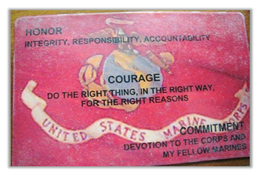 corps values honor courage and commitment