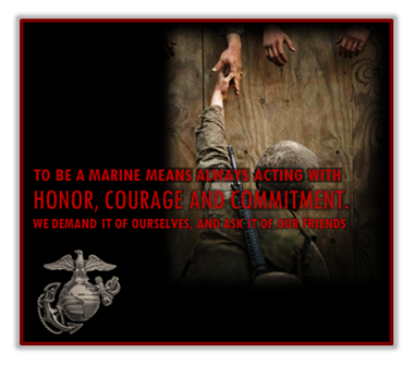 Marine Corps Values,  Honor, Courage and Commitment